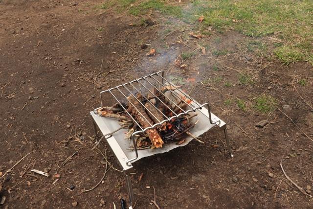 秘密のグリルちゃん焚き火