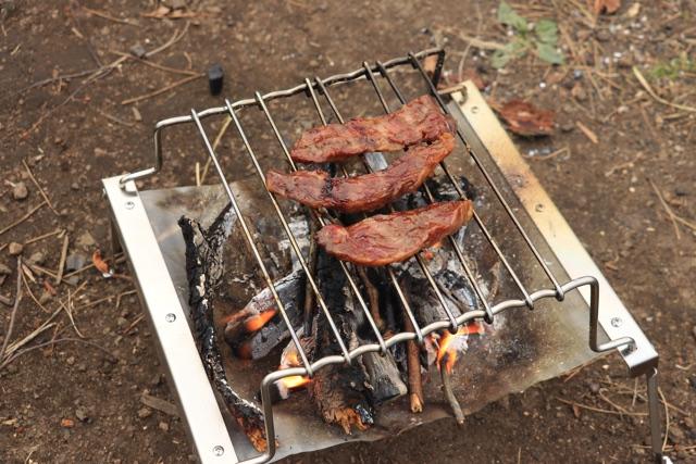 秘密のグリルちゃんでお肉を焼いてみた