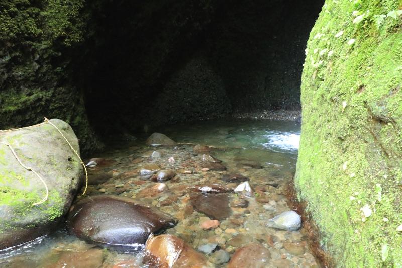 シワガラの滝 滝つぼ