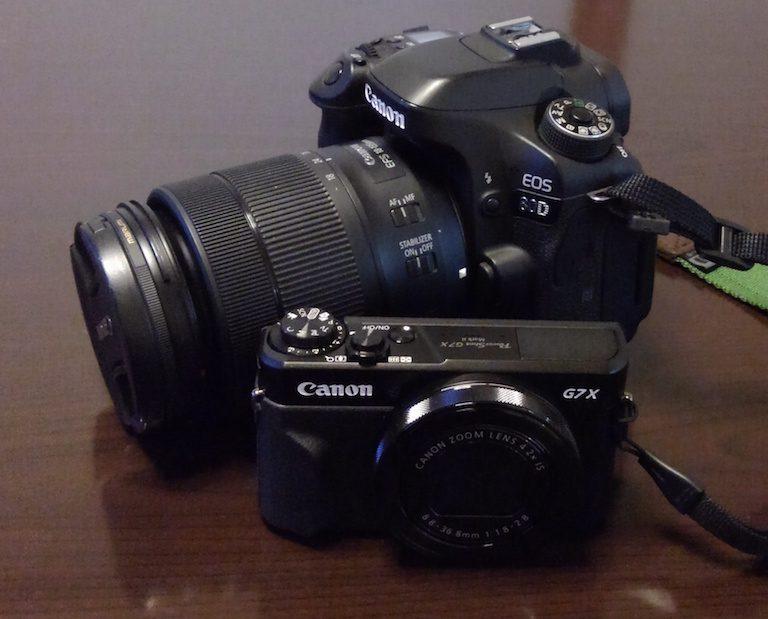 EOS80DとPowerShotG7XMarkⅡ
