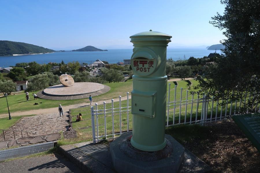 小豆島オリーブ公園のポスト